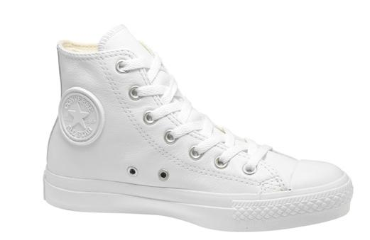 Converse White Leather Hi-Tops | letters on modern life